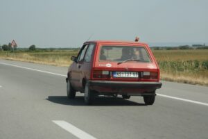 A quality car on the way through Serbia