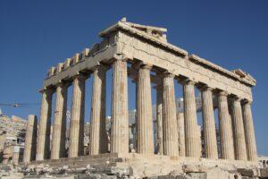 The Parthenon, atop the Acropolis in Athens