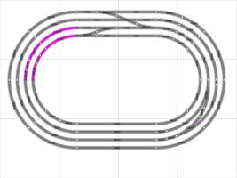 estándar de vía en bucle